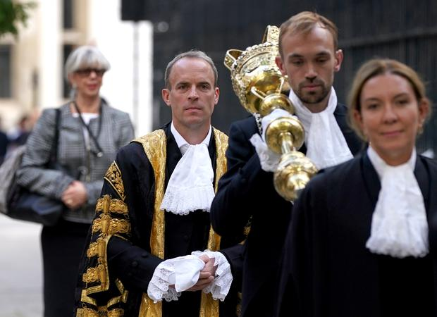 Dominic Raab sworn in as new Lord Chancellor at ceremony -  BelfastTelegraph.co.uk